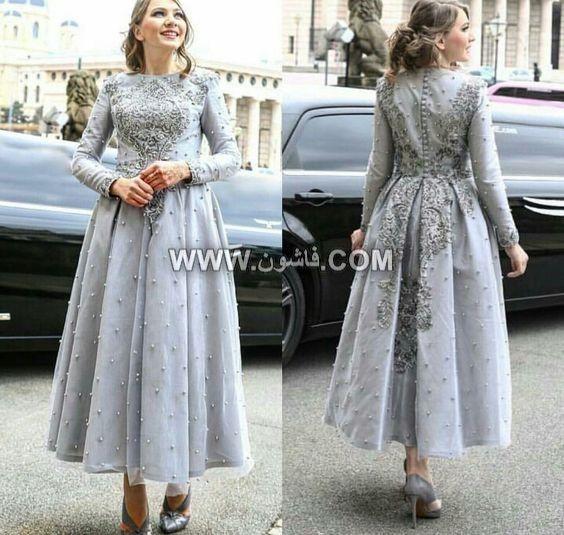 موديلات مختلفة من فساتين السواريه للمحجبات تصميمات عام 2019 Dresses Lace Evening Dresses Hijab Prom Dress