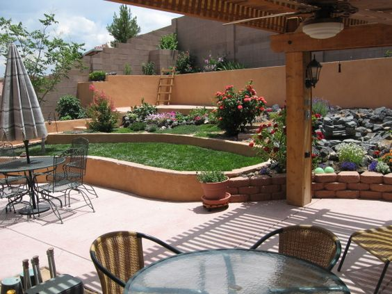 Southwest landscaping small yards southwest small high for Small backyard oasis