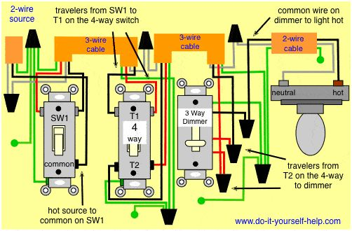 Three Way Dimmer Switch Single Pole Wiring Diagrams 3 Way Dimmer ...