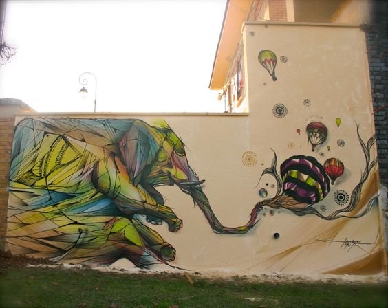 Effervescing Elephant.    Artwork: Hopare
