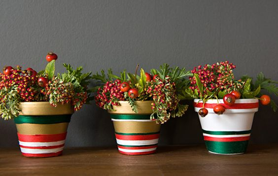Add some holiday color and greenery.