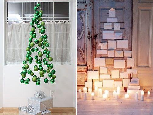 árvores de Natal muito diferentes...