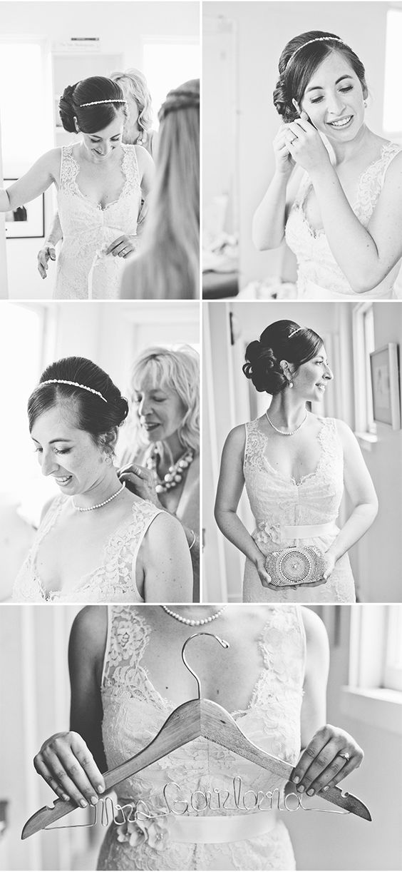 Getting Into Her Nicole Miller Dress | A San Francisco Wedding at Fort Mason General's Residence by onelove photography via StyleUnveiled.com