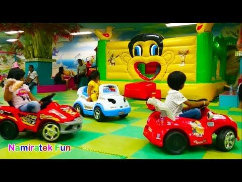 Children Playground Child Trampoline Toys Cars Ball Pit For Toddler In Indoor Playground Youtube Trampolin Mainan Anak Kolam Bola
