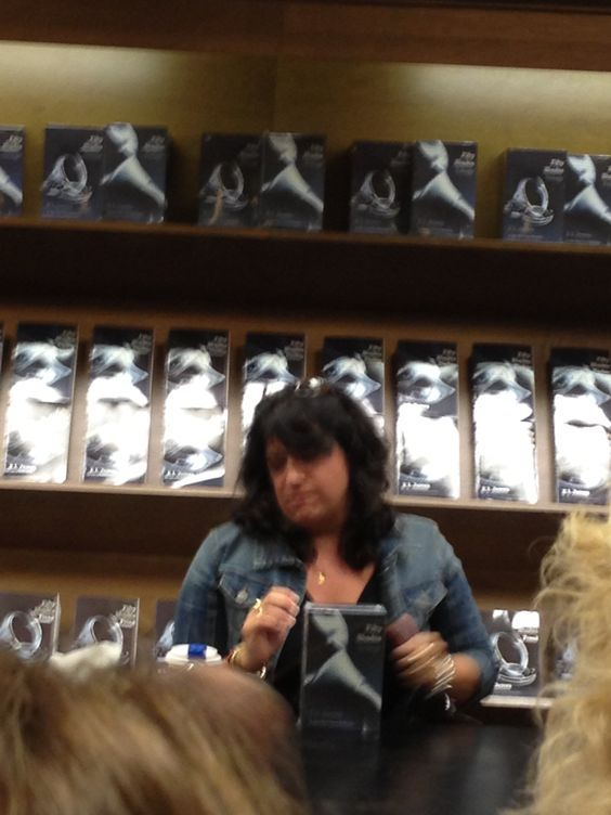 E L James at a boom signing in Minneapolis MN
