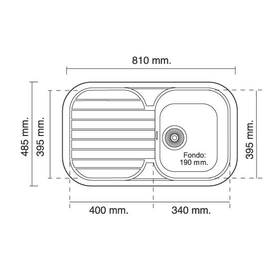 Medidas de un fregadero de cocina buscar con google - Medidas encimera cocina ...
