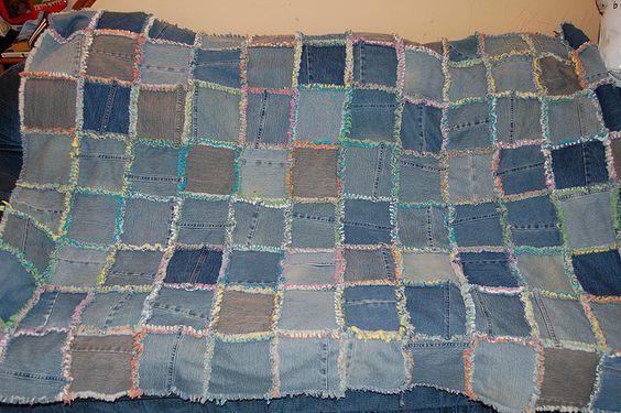 blue jean, t-shirt quilt