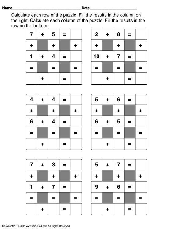 math worksheet : worksheets maths puzzles and math worksheets on pinterest : Maths Puzzles Worksheets