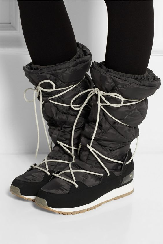 Adidas by Stella McCartney|Fleece-lined faux suede and shell ski boots