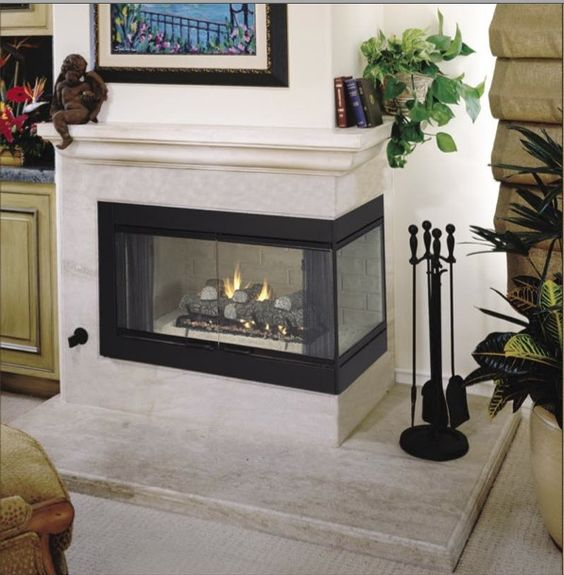 Corner Two Sided Fireplace Mantels Roll Over Photo Above