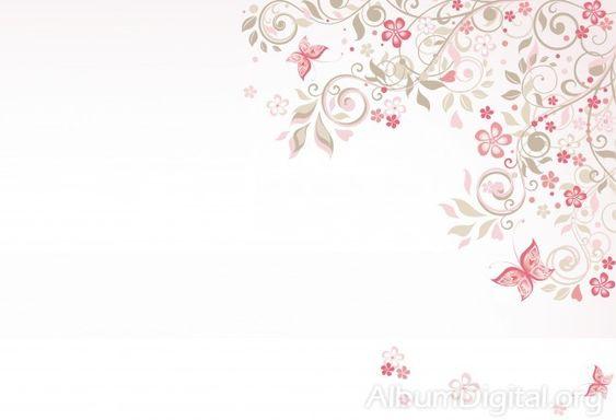 Fondo Primavera álbum Classic Flores Violetas: Fondo Comunión Para álbum Classic Flores Y Mariposas