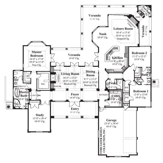 Bellini bellinis luxury house plans and house plans for Sater design house plans