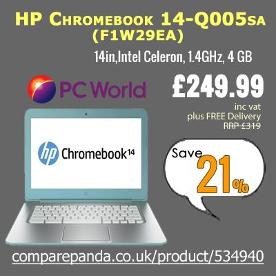 Best Deals on Laptops from the biggest and authentic brands at lowest rates with #comparepandauk  http://www.comparepanda.co.uk/product/534940/hp-chromebook-14-q005sa-(f1w29ea)