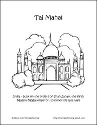 New Seven Wonders of the World Printables - More Coloring Pages