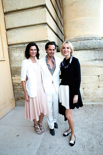 Kilian Hennessy and his wife Elisabeth Jones with Inna Zobova attend the Grand Opening Anish Kapoor's Exhibition at Chateau de Versailles on June 7...