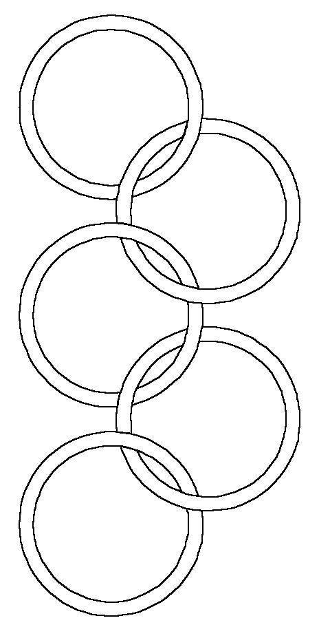 Olympische ringen kleurplaat