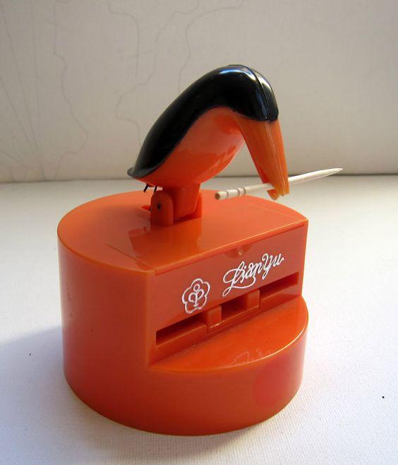 Vintage retro kitsch bird toothpick holder vintage kitsch and birds - Toothpick dispenser bird ...