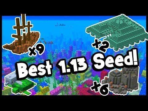 Minecraft 1 13 Seeds Survival Island Shipwrecks Underwater