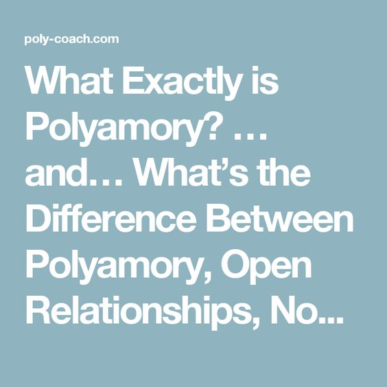 difference between polyfidelity and polyamory dating