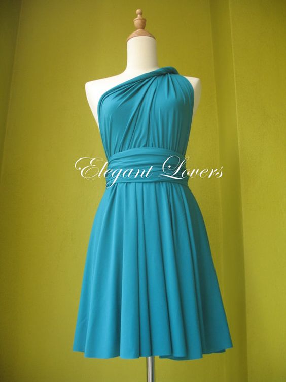 Sky Blue Color Infinity Dress Wrap Dress Bridesmaid Dress Formal Dress Sexy Evening Dress Cocktail Dress Party Dress on Etsy, $69.90