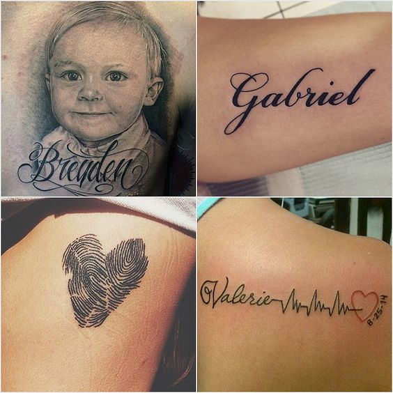 Tattoos for mothers tattoos and body art and popsugar on for Kid tattoos for moms