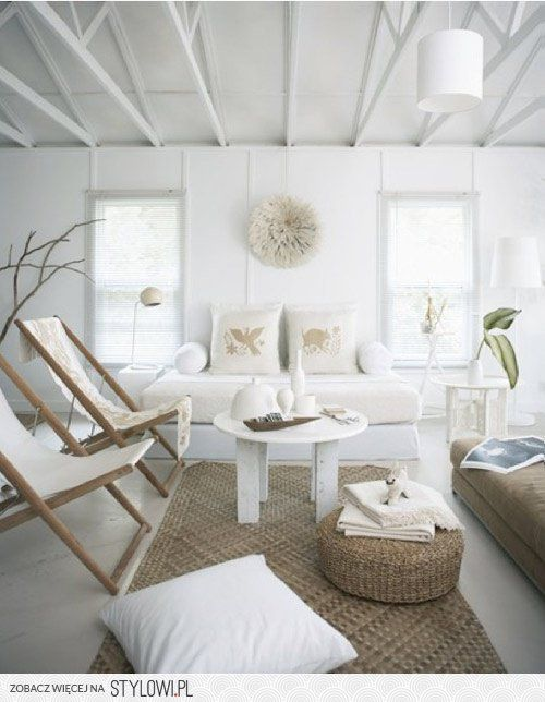 White with earth tones - lovely