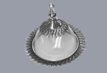 Pewter handcrafted. Diana Carmichael design. Dish 120mm Crystal Clear - Crystal d'Afrique | GoodiesHub.com