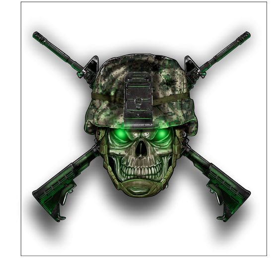 Army Helmet Skull sticker / decal **Free Shipping** - Vinyl Junkie Graphics