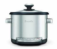 The combination cooker that makes tender slow cooked meals, stir-free risotto, and fluffy rice all in the same bowl. Breville The Risotto Plus Sauteing Slow Rice Cooker and Steamer $129.99 http://www.acooksemporium.com/shop/breville-the-risotto-plus-sauteing-slow-rice-cooker-and-steamer/