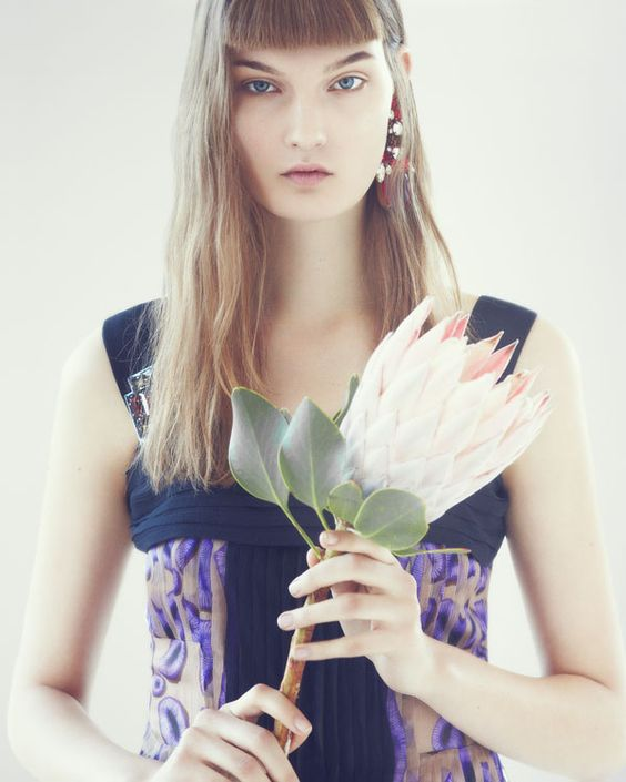 Kirsi Pyrhonen As Pure Artistry By Lowe Seger For Rika Magazine S/S 2013