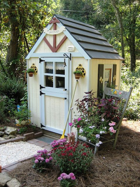 whimsical cottage garden shed