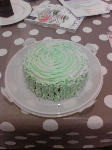 Jam and buttercream sponge cake