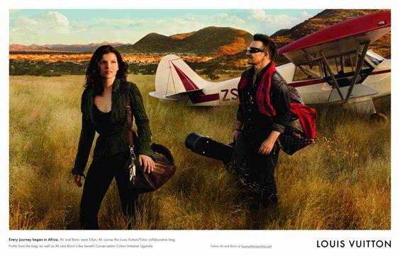 Edun's Ali Hewson & husband, Bono (U2) in Louis Vuitton Ad | World of Luxury