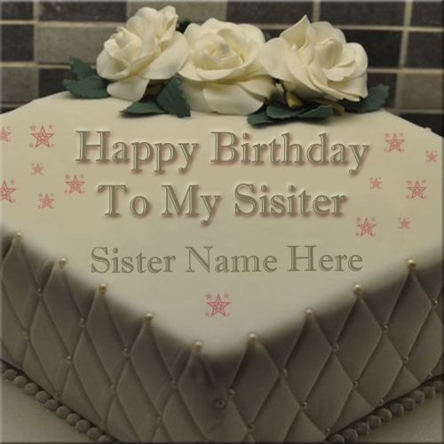 Print Your Sister Name On Birthday Cake Pic Online Happy Birthday Cake Picture With Happy Birthday Cake Pictures Birthday Cake Write Name Birthday Wishes Cake