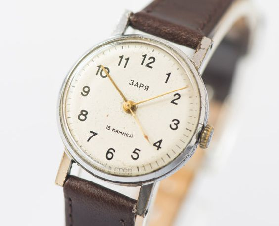 Women's  wrist watch Zarja mechanical watch Soviet by SovietEra, $55.00