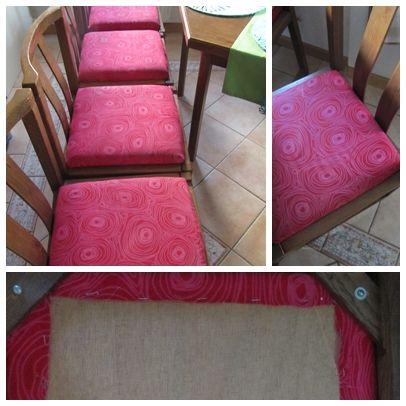 Stuhlbezüge aus Bettwäsche