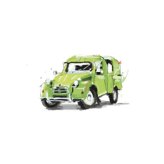 2cv Van - Vintage Cars series by Carlos Quitério