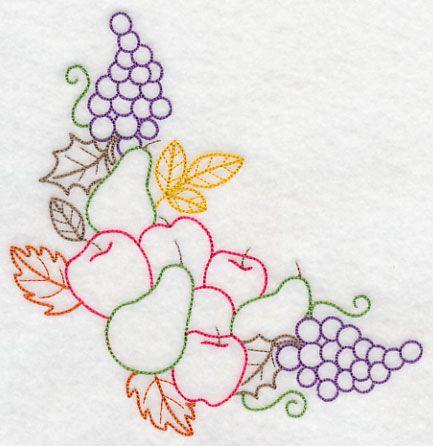 Patr n para bordado a mano frutas 1 de bordados for Disenos para bordar