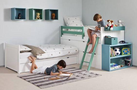 Dormitorio camas literas. Bedroom Bunk Beds.  #furniture  #muebles  #Málaga  http://www.decorhaus.es/es/