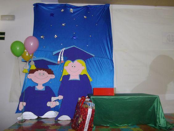 decoración con globos para graduación preescolar , Buscar con Google