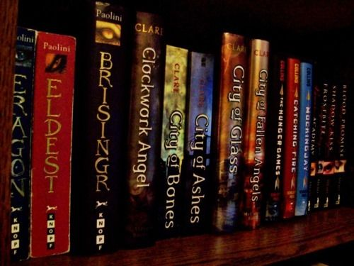 Eragon, Infernal Devices, The Mortal Instruments, and The Hunger Games series