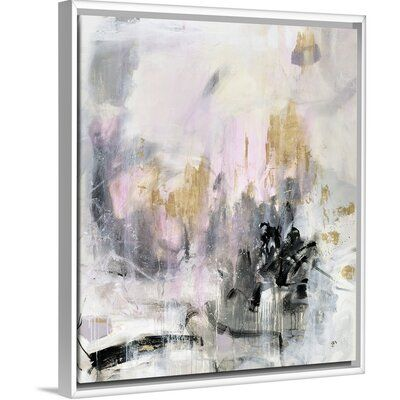 Mercer41 Crowns And Kisses Painting On Canvas Format White Floater Frame Size 25 7 H X 21 7 W X 1 75 D Painting Kiss Painting Canvas Size