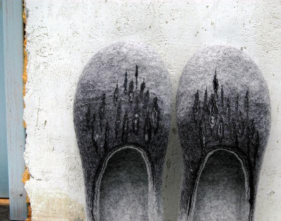 Just Gray Slippers for Men