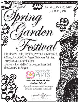 Franklin Square Festival this Saturday (by Smart Toys), 9-3 pm. Stuff for the garden plus some childrens' activities.