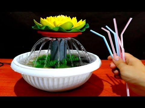 For This Video I Used Aquarium Pump Atman At 101 H Max 0 6m Power 5w Also You Can Yoused And Another Diy Fountain Tabletop Water Fountain Diy Water Fountain