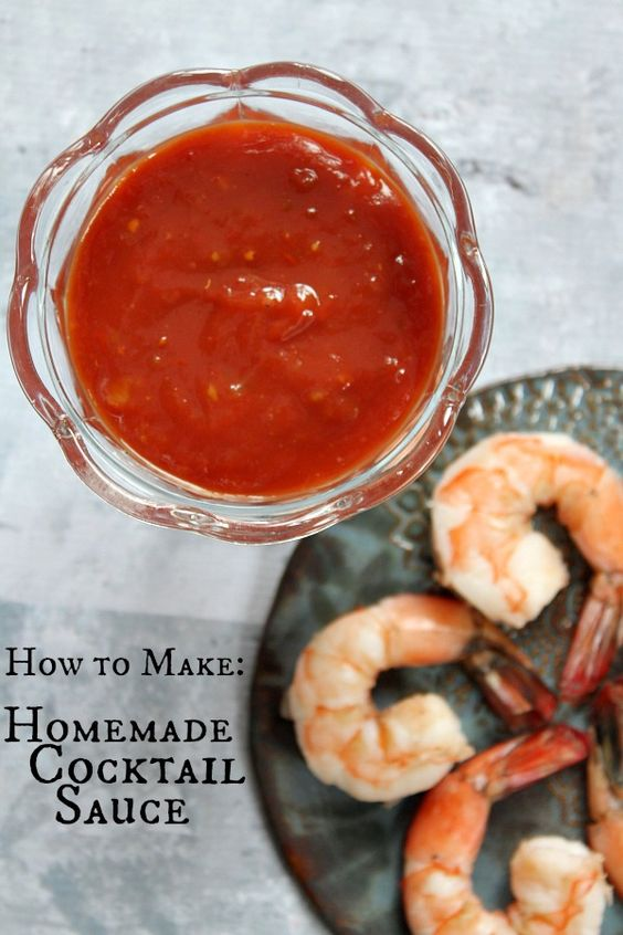 Easy recipe for homemade Cocktail Sauce to serve with cooked shrimp!
