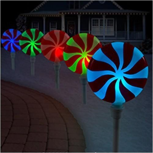 Peppermint Pathway Lights Led Outdoor Decorations