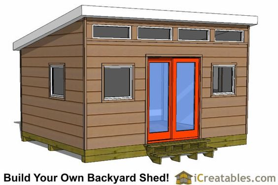 Shed plans modern and studios on pinterest for Modern shed prices