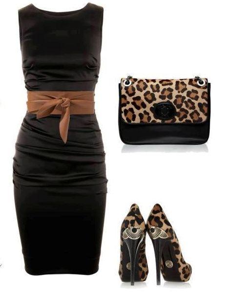 Stunning Leopard Dresses + HOT Leopard Dress Shoe Heels + Adorable Leopard Purse = PERFECT Women's Classy Leopard Outfit!