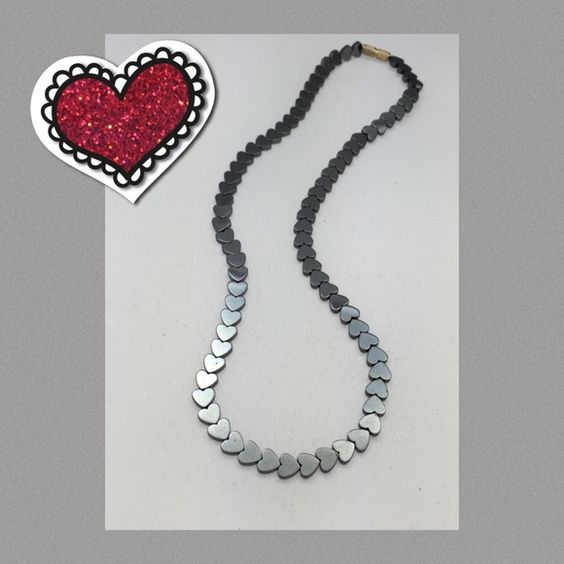 Lovely Necklace Pretty with heart shaped beads. Jewelry Necklaces